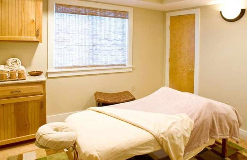 Massage table at Lake Morey Resort.