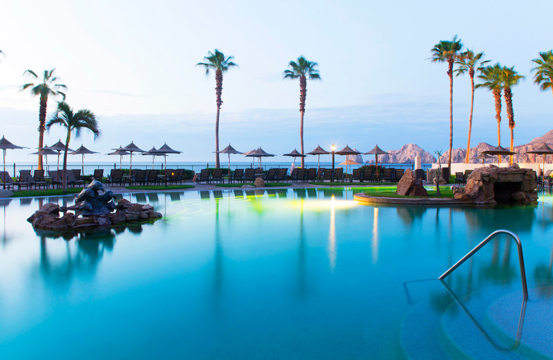 Outdoor pool at Villa La Estancia at Cabo La Estancia.