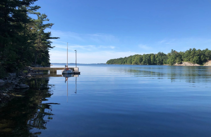Lake at Riverbay Adventure Inn.