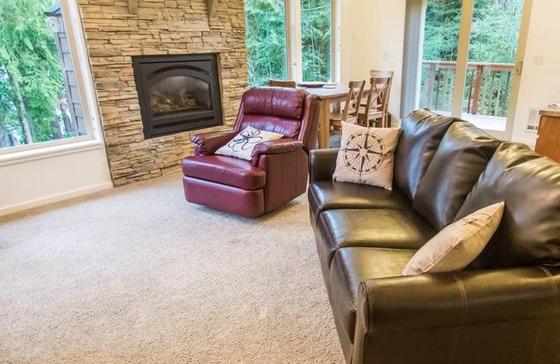 Rental living room at Sequim Valley Properties.