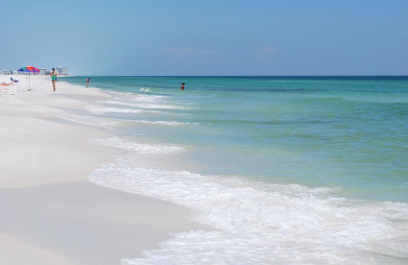 The beach at Gulf Pines RV Park.