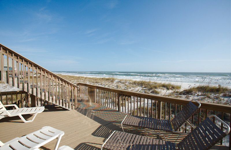 Rental deck at Paradise Gulf Properties.