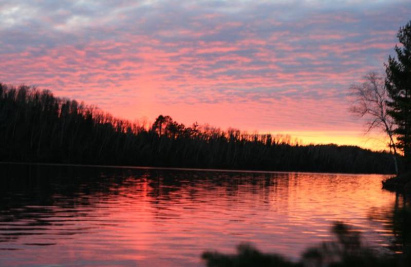 Sunset at Lakewoods Resort.