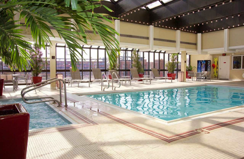 Indoor pool at Hilton St. Louis at the Ballpark.