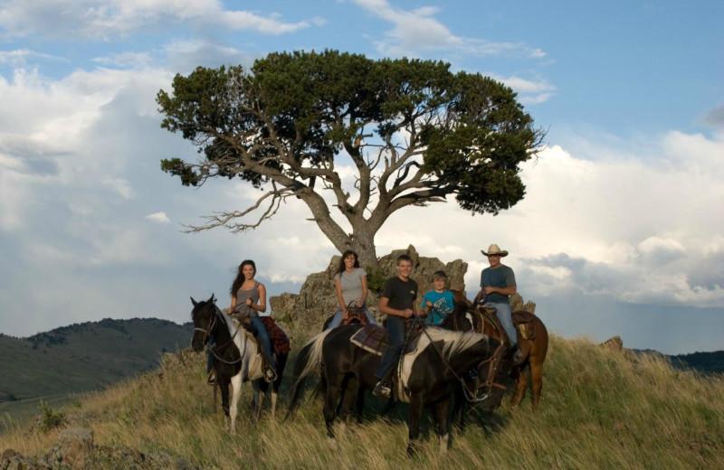 Horseback riding at Blacktail Ranch.