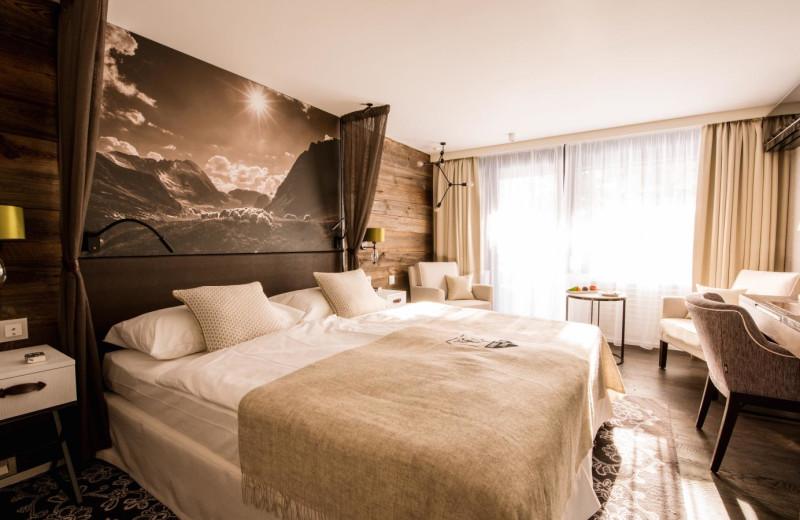 Guest room at Alpenhof.