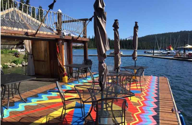 Dock at Elk Lake Resort.