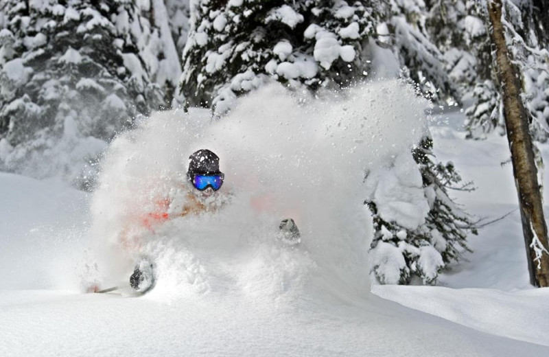 Skiing at Attitash Mountain Village Resort.