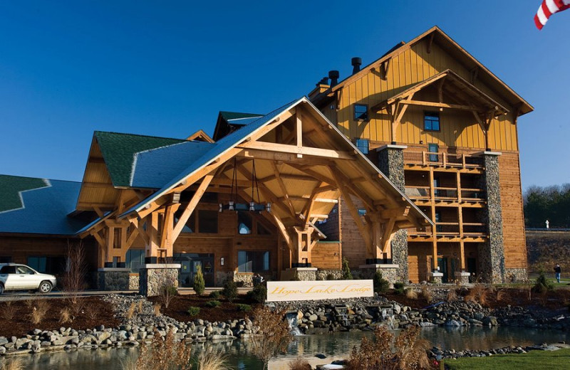 Exterior view at Hope Lake Lodge & Indoor Waterpark.