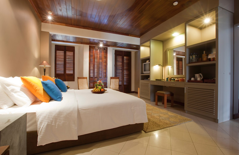 Guest room at Bentota Beach Hotel.