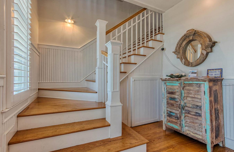 Rental stairs at Realty World - First Coast Realty.