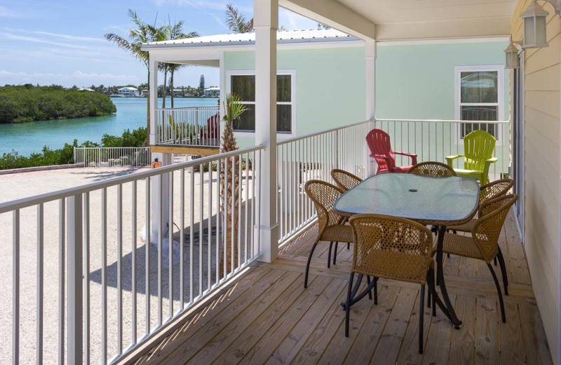 Rental balcony at Florida Keys Vacation Rentals.