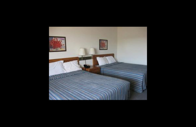 Guest bedroom at Big Bend Resort & Adventures.