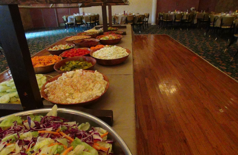 Buffet at Pollace's Family Vacation Resort.