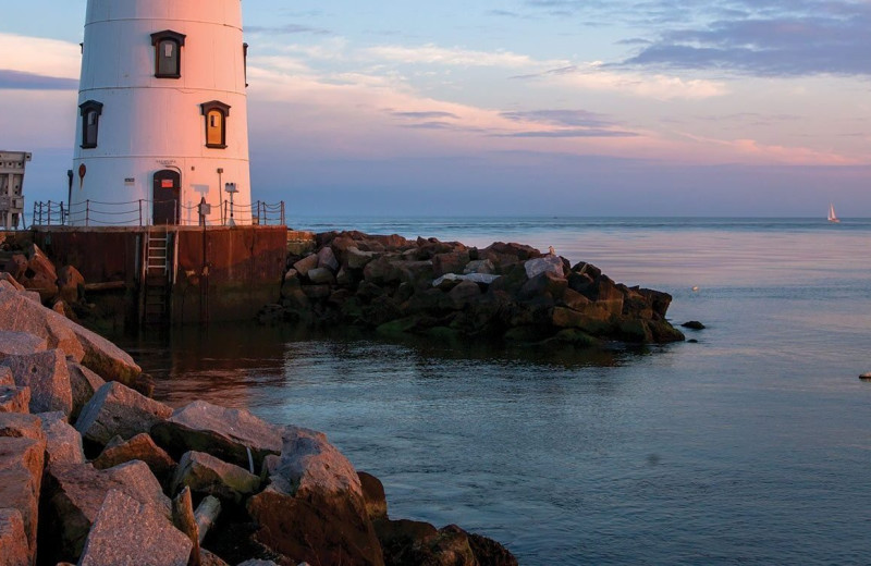 Light house at Saybrook Point Inn & Spa.