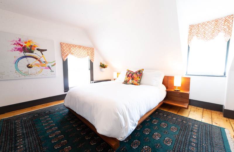 Guest room at Addison Choate.