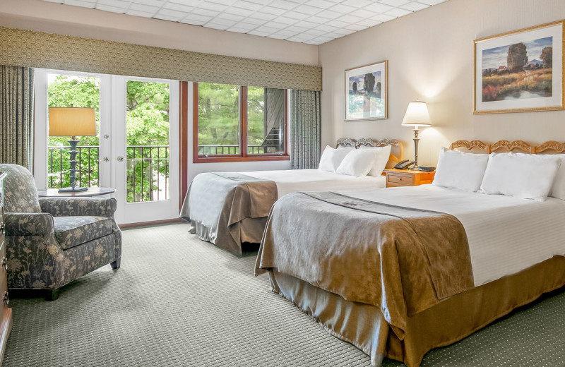 Guest room at Woodloch Resort.