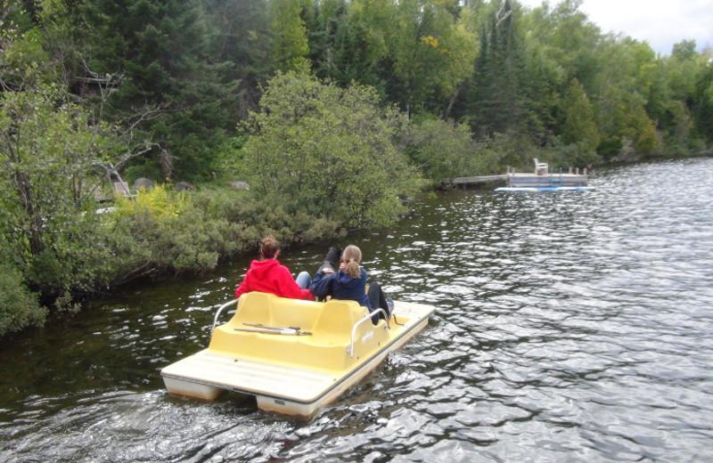Paddle boat at Loon Lake Lodge.