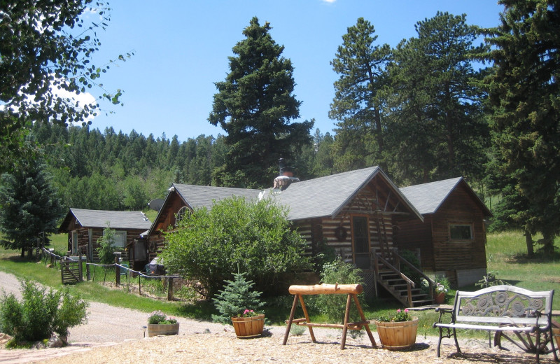 Cabins at Meadow Creek Lodge and Event Center.
