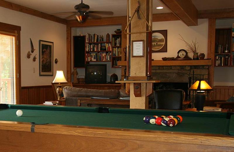 Game Room at Bent Creek Lodge