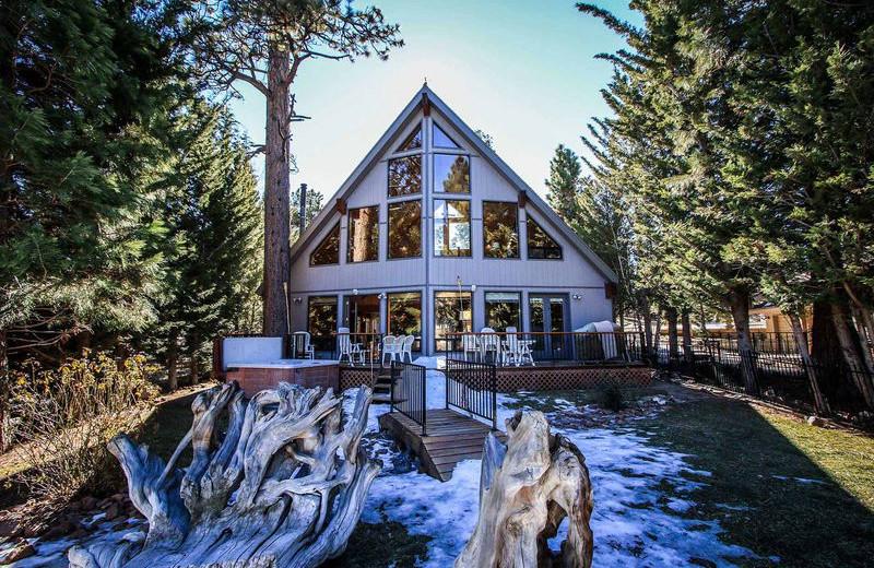 Rental exterior at Big Bear Vacations.