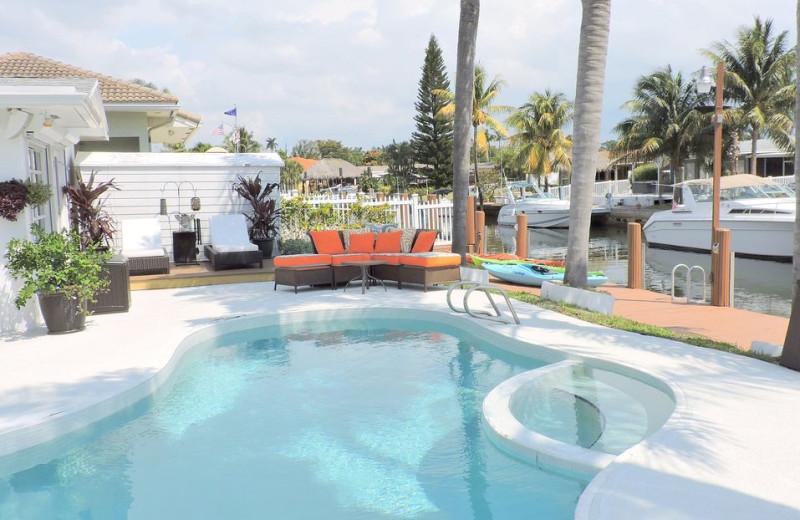Rental pool at ValGal Vacation Rentals.