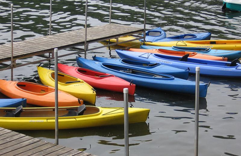 Kayaks at Tyler Place Family Resort.