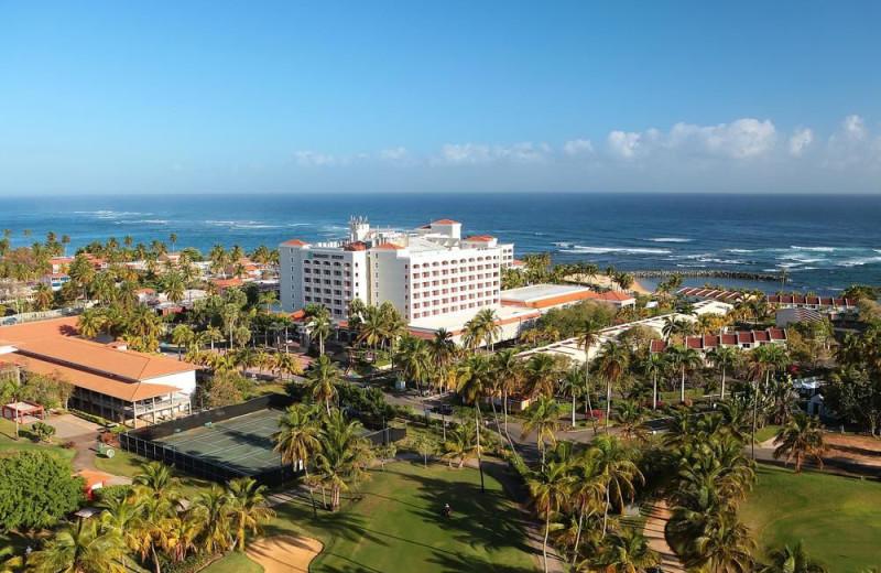 Aerial view of Embassy Suites Dorado del Mar.