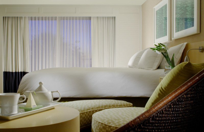 Guest room at Edgewater Beach Hotel.