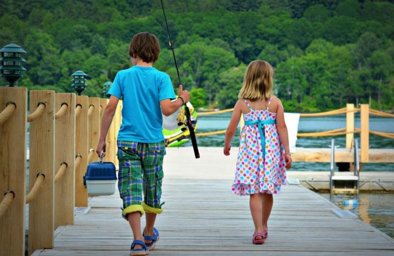 Fishing at The Otesaga Resort Hotel.