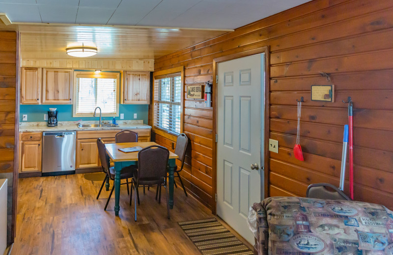 Cabin kitchen at Ten Mile Lake Resort -Otter Tail Country Lakes Tourism.