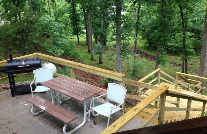 Guest deck at Rocky Branch Resort.