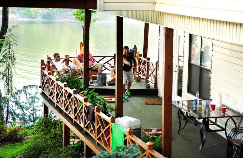 Balcony view at Dream Catcher Point Resort.