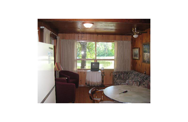 Cabin interior at Birch Grove Resort.