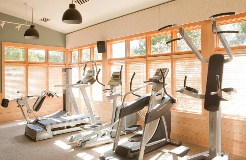 Fitness room at Travaasa Austin.