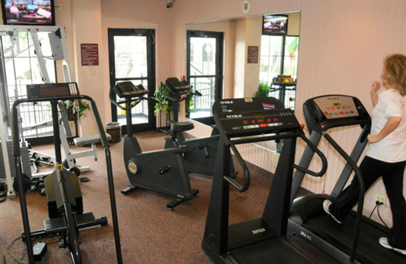 Fitness room at Clarion Hotel at The Palace.