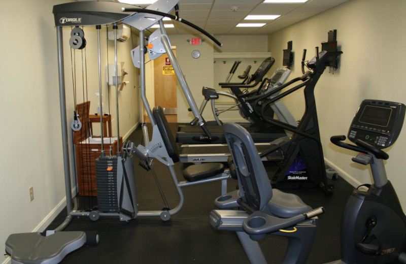 Fitness room at Windrifter Resort.