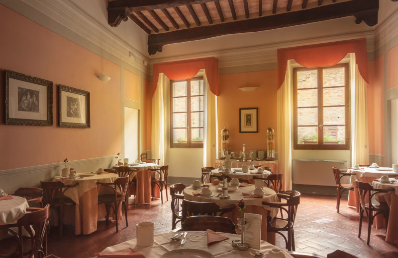 Dining at Hotel l'Antico Pozzo.