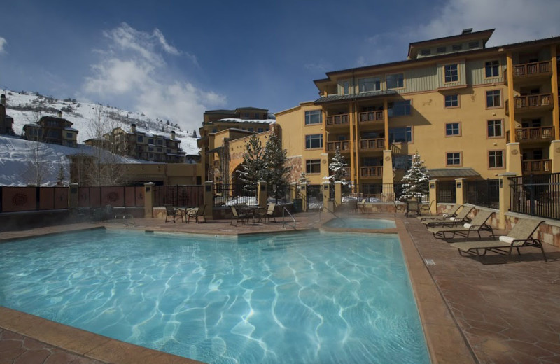 Outdoor pool at Sundial Lodge.