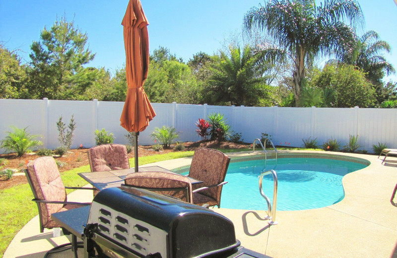 Rental pool at Crystal Waters Vacations.