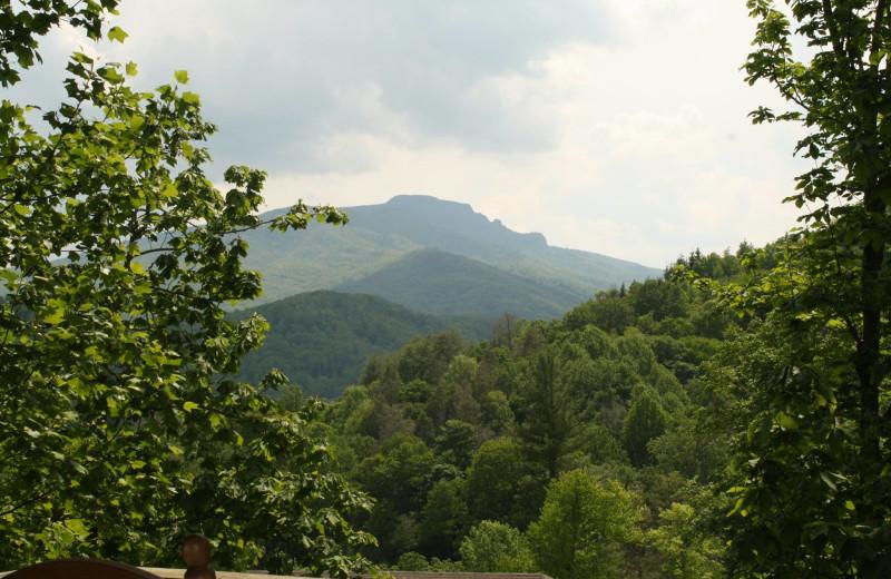Mountain view at Foscoe Rentals.
