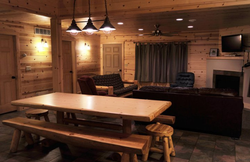 Cabin interior at Cedar Valley Resort.
