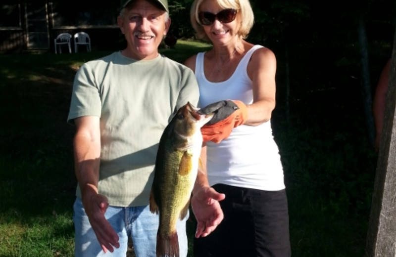 Bass Fishing at Evergreen Lodge.