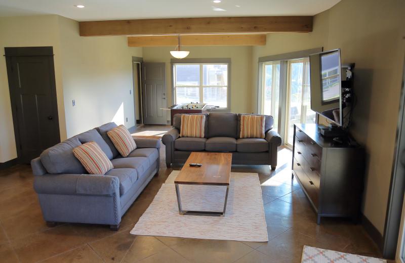 Guest living room at Antlers Resort.