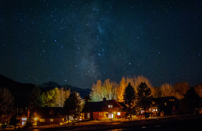 Night sky at Rams Horn Village Resort.