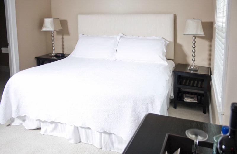 Guest bedroom at Dahlonega Spa Resort.