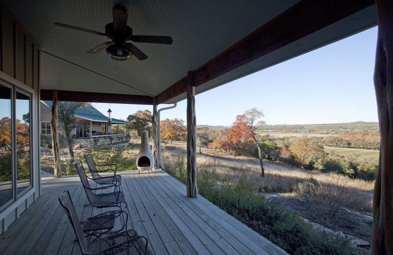 Guest porch at Joshua Creek Ranch.