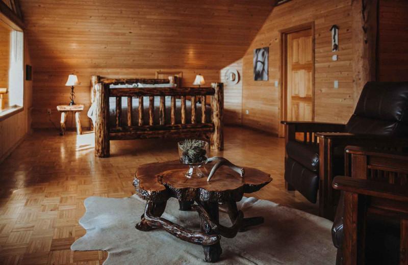 Guest room at Big Creek Lodge.