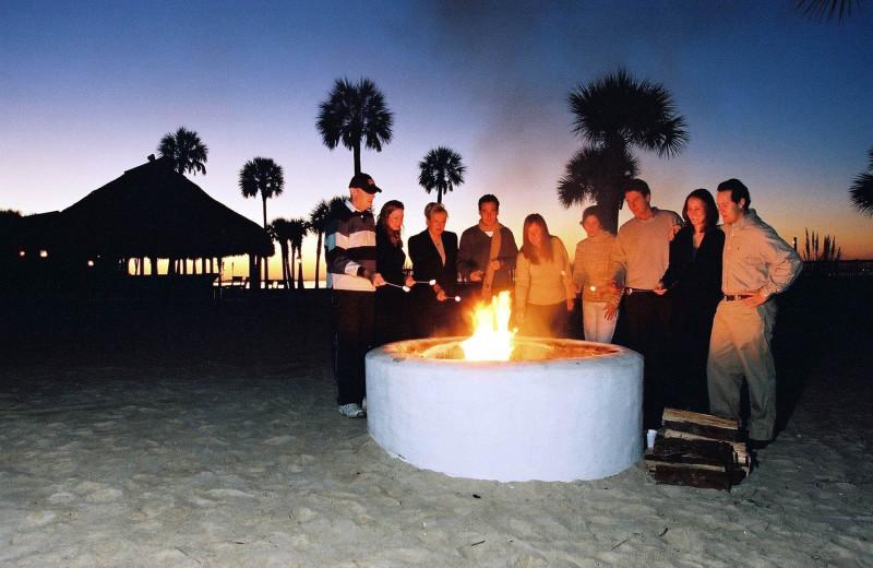 Fire Pit at  Charleston Harbor Resort