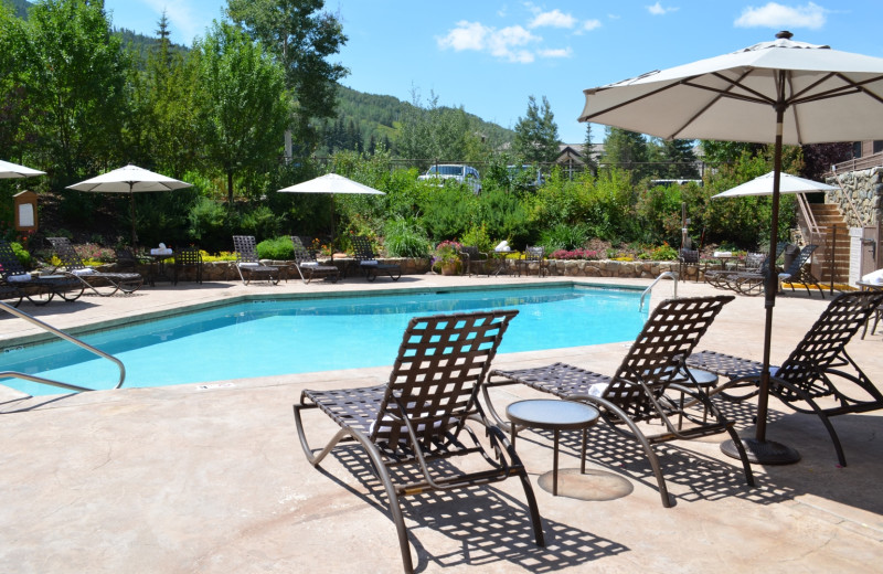 Outdoor pool at Manor Vail Lodge.